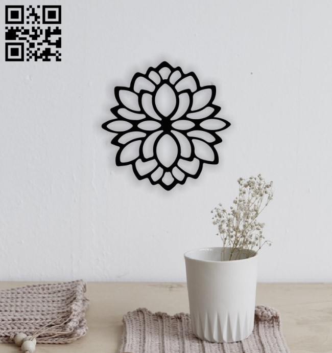 Lotus flower E0014121 file cdr and dxf free vector download for laser cut plasma
