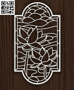 Lotus flower panel E0014172 file cdr and dxf free vector download for laser cut plasma