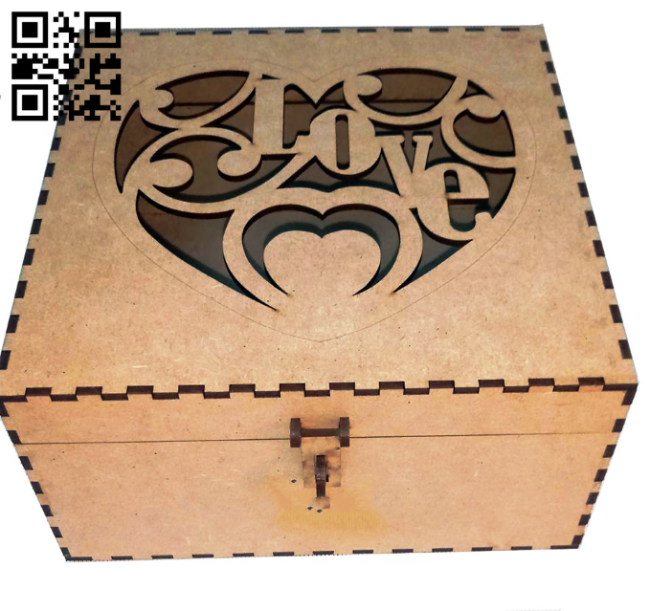 Love box E0014268 file cdr and dxf free vector download for laser cut