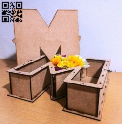 M box E0014177 file cdr and dxf free vector download for laser cut