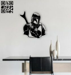 Mandalorian star war E0014442 file cdr and dxf free vector download for laser cut plasma