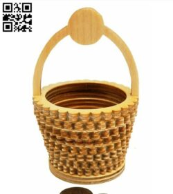 Miniature basket E0014361 file cdr and dxf free vector download for laser cut