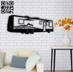 Motor home E0014183 file cdr and dxf free vector download for laser cut plasma