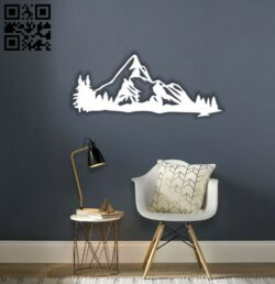 Mountain E0014448 file cdr and dxf free vector download for laser cut plasma