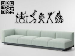 Music performance E0014366 file cdr and dxf free vector download for laser cut
