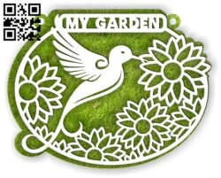 My garden sign E0014135 file cdr and dxf free vector download for laser cut