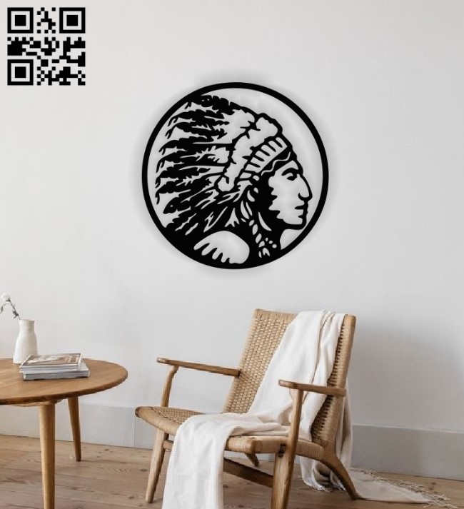 Native man E0014140 file cdr and dxf free vector download for laser cut plasma