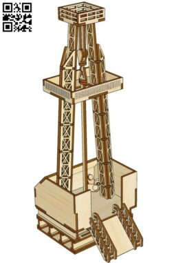 Oil rig E0014314 file cdr and dxf free vector download for laser cut