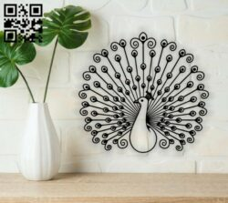 Peacock E0014279 file cdr and dxf free vector download for laser cut plasma