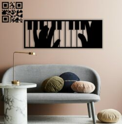 Piano wall decor E0014451 file cdr and dxf free vector download for laser cut plasma