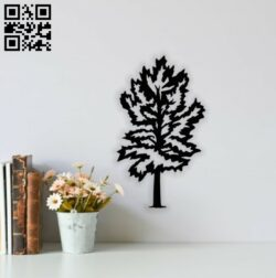 Pine tree E0014158 file cdr and dxf free vector download for laser cut plasma