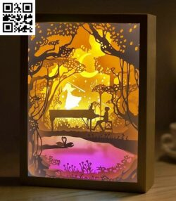 Playing piano light box E0014396 file cdr and dxf free vector download for laser cut