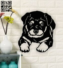 Puppy dog E0014182 file cdr and dxf free vector download for laser cut plasma