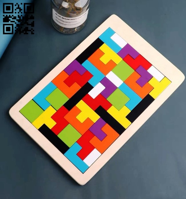 Puzzle tetris E0014077 file cdr and dxf free vector download for laser cut