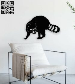 Raccoon E0014155 file cdr and dxf free vector download for laser cut plasma