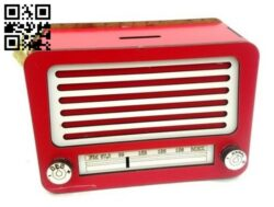 Radio piggy bank E0014390 file cdr and dxf free vector download for laser cut