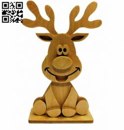 Reindeer E0014080 file cdr and dxf free vector download for laser cut