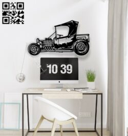 Roadster car E0014281 file cdr and dxf free vector download for laser cut plasma