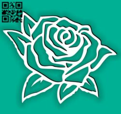 Rose E0014443 file cdr and dxf free vector download for laser cut plasma