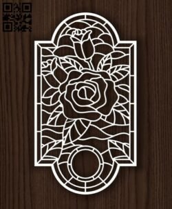 Rose panel E0014170 file cdr and dxf free vector download for laser cut plasma