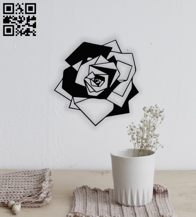 Rose wall decor E0014094 file cdr and dxf free vector download for laser cut plasma