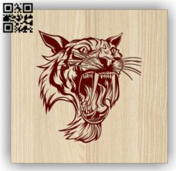 Saber tiger E0014286 file cdr and dxf free vector download for laser engraving machines