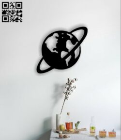 Saturn E0014376 file cdr and dxf free vector download for laser cut plasma