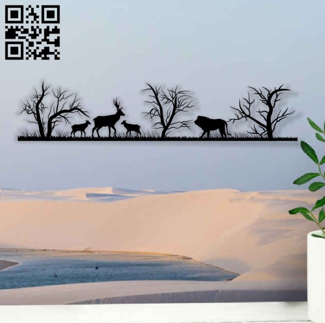 Savanna animals E0014110 file cdr and dxf free vector download for laser cut plasma