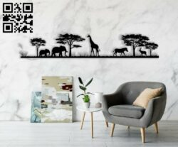 Savanna animals E0014112 file cdr and dxf free vector download for laser cut plasma