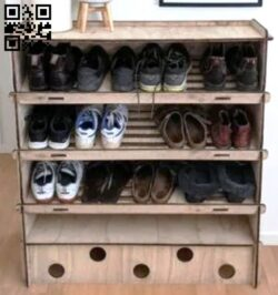 Shoes cabinet  E0014346 file cdr and dxf free vector download for laser cut