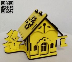 Small house E0014335 file cdr and dxf free vector download for laser cut
