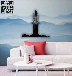 Spaceship wall decor E0014351 file cdr and dxf free vector download for laser cut plasma