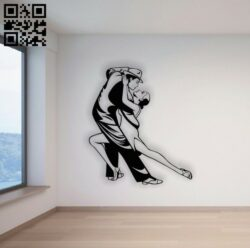 Sport dance wall decor E0014196 file cdr and dxf free vector download for laser cut plasma