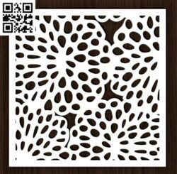 Square decoration E0014392 file cdr and dxf free vector download for laser cut