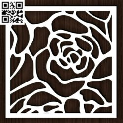 Square decoration E0014393 file cdr and dxf free vector download for laser cut