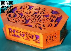 Sweet heart box E0014345 file cdr and dxf free vector download for laser cut