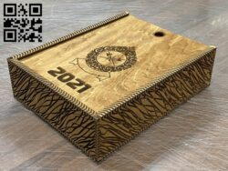 Tear calendar box E0014173 file cdr and dxf free vector download for laser cut