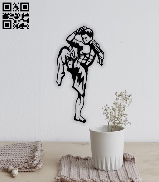 Thai boxer E0014083 file cdr and dxf free vector download for laser cut plasma