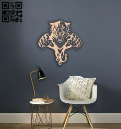 Tiger wall decor E0014199 file cdr and dxf free vector download for laser cut plasma