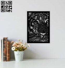 Tiger wall decor E0014405 file cdr and dxf free vector download for laser cut plasma