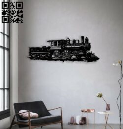 Train wall decor E0014417 file cdr and dxf free vector download for laser cut plasma