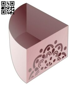 Triangular bowl E0014234 file cdr and dxf free vector download for laser cut
