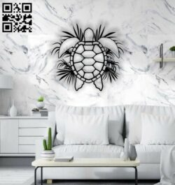 Turtle wall decor E0014257 file cdr and dxf free vector download for laser cut plasma