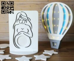 Ultrasound photo frame E0014293 file cdr and dxf free vector download for laser cut