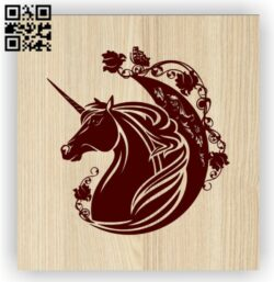Unicorn E0014288 file cdr and dxf free vector download for laser engraving machine