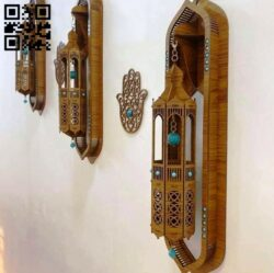Wall lamp E0014317 file cdr and dxf free vector download for laser cut