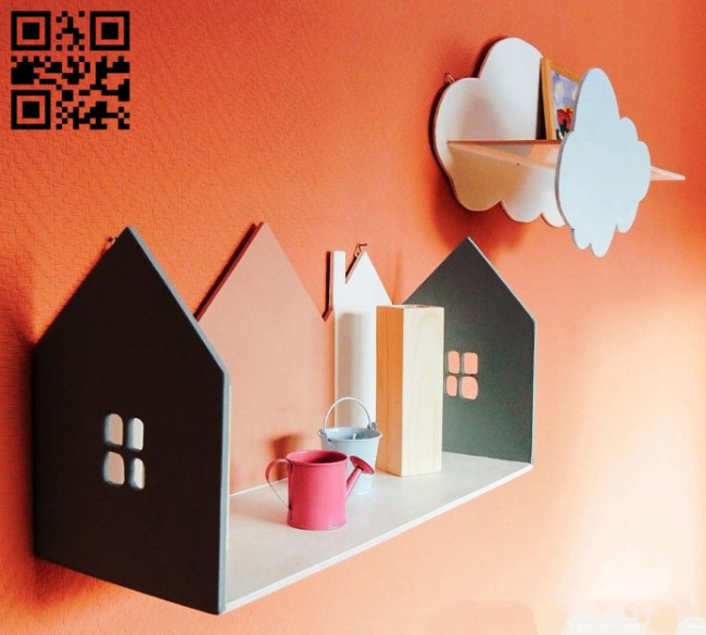 Wall shelf E0014078 file cdr and dxf free vector download for laser cut