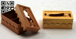 Watch box E0014348 file cdr and dxf free vector download for laser cut
