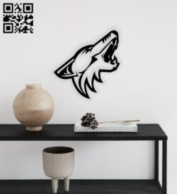 Wolf head E0014299 file cdr and dxf free vector download for laser cut plasma