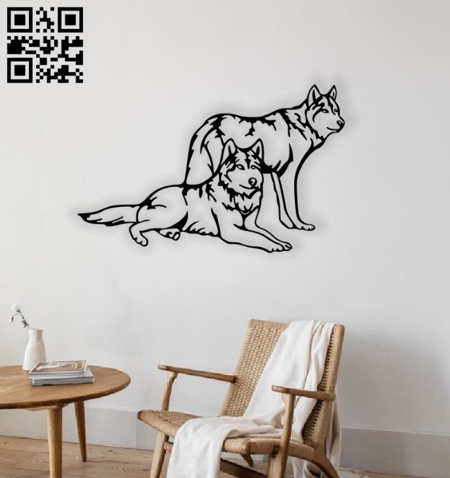 Wolves E0014091 file cdr and dxf free vector download for laser cut plasma